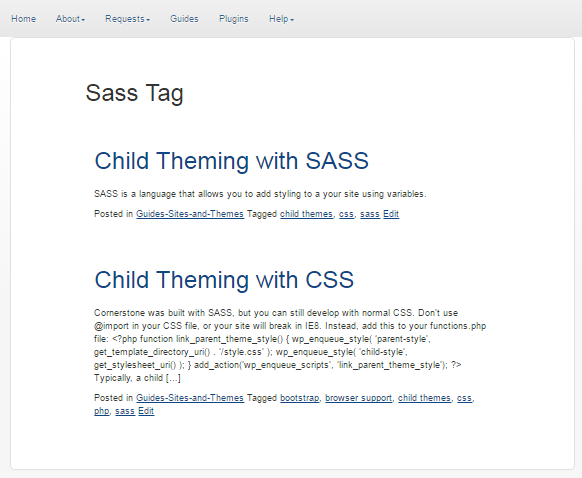SASS Tag With Summary